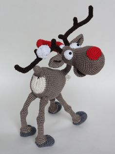 Amigurumi Crochet Pattern Rudolf the Reindeer por IlDikko en Etsy