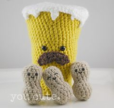 Amigurumi Pint and Peanuts - $3
