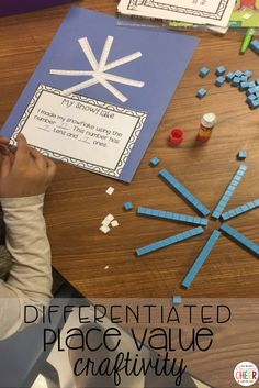 Place value craft that is perfect for the winter time!
