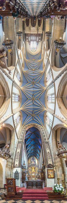 Vertical Panoramas of Church Ceilings Around the World - Krakow, Poland