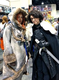 Ygritte & Jon Snow - Game of Thrones by Futuregirl_LeahRiley, via Flickr cosplay costumes