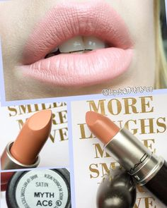 @LipstickDatabase: MAC Satin lipstick in Myth - full review at @LipstickDatabase on Instagram