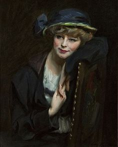 irving ramsey wiles art | This artwork, A Fashionable Young Lady by Irving Ramsey Wiles , is ...