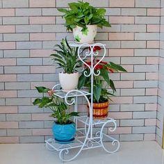 Blumenständer Blumensäule Blumenampel Metall Blumenregal Garden Pleasure NEU in Garten & Terrasse, Dekoration, Pflanztreppen | eBay!