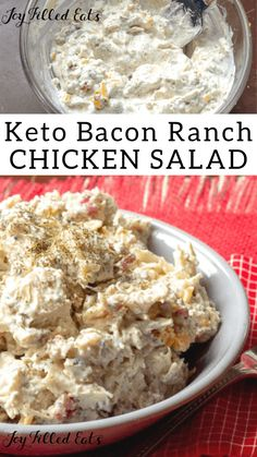 Bacon Ranch Easy Chicken Salad Bacon Ranch Easy Chicken Salad This keto r . - Bacon Ranch Easy Chicken Salad Bacon Ranch Easy Chicken Salad This keto recipe is so simple and so - Ketogenic Diet Meal Plan, Keto Meal Plan, Diet Meal Plans, Ketogenic Recipes, Diet Recipes, Slimfast Recipes, Ketogenic Supplements, Lunch Recipes, Smoothie Recipes
