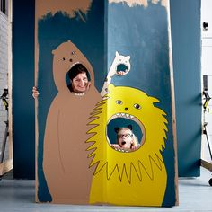 Create a lovely photocall with cardboard - easy and fun DIY!