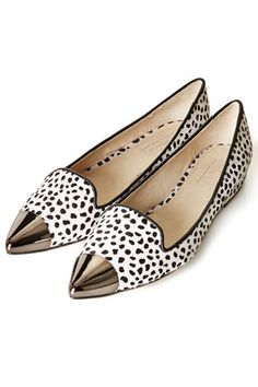 Metallic Toe Cap Point Shoes