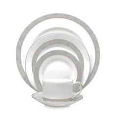 Vera Wang Wedgwood® Gilded Weave Dinnerware in Platinum - BedBathandBeyond.com