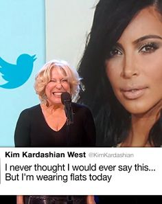 Kim Kardashian served as artistic inspiration for Bette Midler on Monday evening, March 9, when the Grammy-winning icon took the mic on the set of Jimmy Kimmel Live!