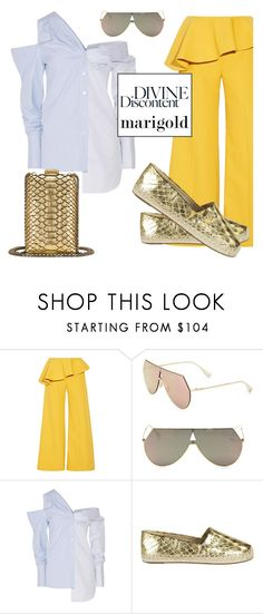 """""""Marigold pants"""" by keepitrealforme ❤ liked on Polyvore featuring Rosie Assoulin, Fendi, Monse, MICHAEL Michael Kors and Chanel"""