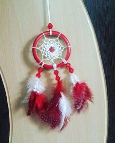 Aura's Crimson Love Dreamcatcher Necklace