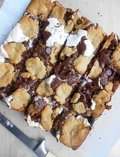 Nutella S'mores Bars via Culinary Couture