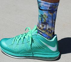Venice Beach Custom Nike elites by TheSickestSocks on Etsy, $35.99