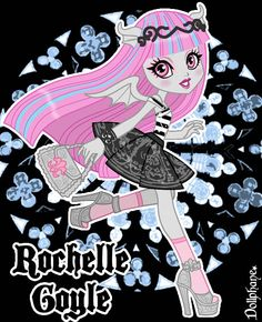 One of my favorite Monster High characters I loved her design as soon as she was revealed last year at Toy Fair Rochelle Goyle Monster High Toys, Monster High School, Monster High Characters, Monster High Repaint, Rochelle Goyle, Ever After Dolls, Gothic Dolls, Kids Shows, Kawaii Art