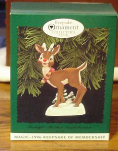 1996 Rudolph the Red nosed Reindeer Reindeer Lights, Hallmark Christmas Ornaments, Rudolph The Red, Red Nosed Reindeer, The Collector, Traditional, Holiday Decor, Club, Ebay