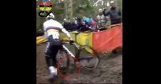 Em competição de Cyclo-cross roda da bike de atleta gira freneticamente e levanta suspeitas