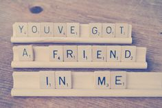 You've Got a Friend in Me scrabble sign // Disney Toy Story inspired sign // Friendship Gift. $22.00, via Etsy.