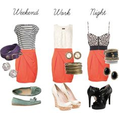 """""""1 Skirt, 3 Looks"""" by simply-style on Polyvore"""