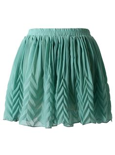 Geen Triangle Pattern Pleated Chiffon Skirt