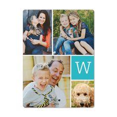Save the Date idea! - Classic Monogram Collage Magnet | Custom Magnets | Shutterfly
