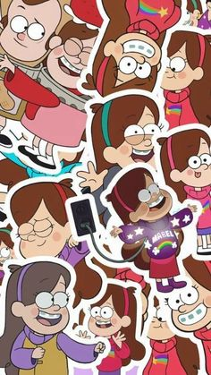 Art Tutorial and Ideas Fall Wallpaper, Tumblr Wallpaper, Cartoon Wallpaper, Disney Wallpaper, Wallpaper Backgrounds, Iphone Wallpaper, Dipper And Mabel, Mabel Pines, Monster Falls