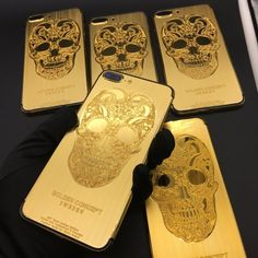 Gold Skull Style Available Color:  Gold, Silver  Available Models: iPhone 6/6 Plus → Gold Skull Style Price: $250 iPhone 6s/6s Plus → Gold Skull Style Price: $270 iPhone 7/7 Plus → Gold Skull Style Price: $290  Extra (Need Pre-Order) : Add Customized words: $50 Make Your Back Logo Light Up: $80 Diamond on the sides: $70  #Phoneaccessories #Iphone #PhoneCase #PhoneRepair