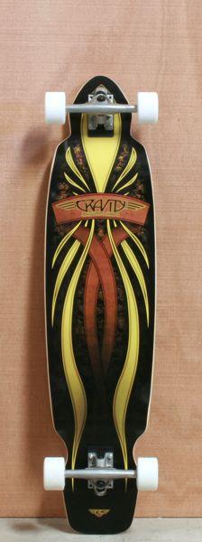 "Gravity 40"" Mini Kick Longboard Complete"