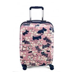 Cherry Blossom Dog, Small Wheel Trolley Suitcase