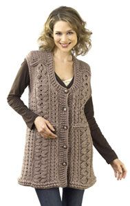 Layering Tunic Vest. Wish I could make something like this!