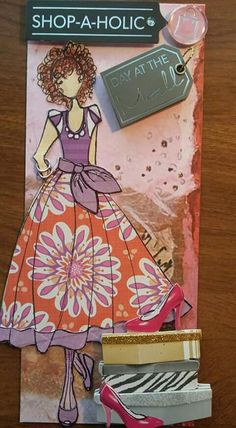 """Shopping Diva"" this one is for mom. It's made with Ruby on tip and Camille on bottom altered hair and outfit. Made by Tamara Lewis."