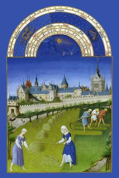 """""""June""""    from The Book of Hours -Limbourg Brothers."""