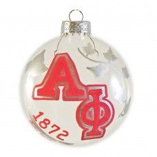 One-Sided Alpha Phi Disc Ornament