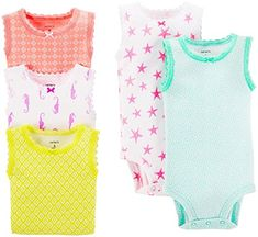 Carter's Baby Girls' 5 Pack Tank Bodysuits (Baby) - Assorted - 18 Months Carter's http://smile.amazon.com/dp/B00QRCLSJW/ref=cm_sw_r_pi_dp_kwQhvb0BS70E3