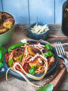 Falafel, Japchae, Spaghetti, Pasta, Vegetables, Cooking, Ethnic Recipes, Food, Kitchen