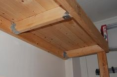 Build Garage Shelves Wood Worth a try? Workshop Organization, Garage Organization, Room Shelves, Storage Room, Office Cleaning Services, Clean Garage, Janitorial Services, Garage Shelf, Garage Workshop