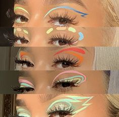 """""""✨ THREAD OF LINERS TO TRY ✨ ☝️ for anyone who wants to try graphic liner looks, but doesn't know where to get liners from! Edgy Makeup, Makeup Eye Looks, Eye Makeup Art, Cute Makeup, Pretty Makeup, Makeup Trends, Makeup Inspo, Makeup Inspiration, Graphic Makeup"""