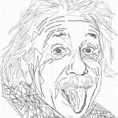 Albert Einstein triangles by ©VanBor.nl