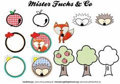 """Stickdatei Stickserie """"Mister Fuchs & Co"""" ... von biancafarbenfroh auf DaWanda.com"""