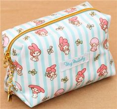 white turquoise striped My Melody cosmetic case Japan