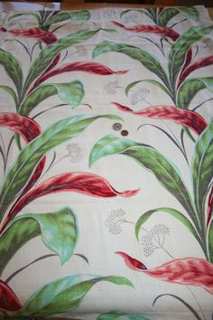 Awesome '40s tropical fabric
