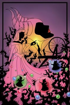 Silhouette Aurora, Maleficent, Flora, Fauna, and Merryweather - Sleeping Beauty aka best picture ever!!