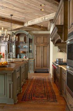 elegant-rustic-kitchen.jpg (800×1225)...