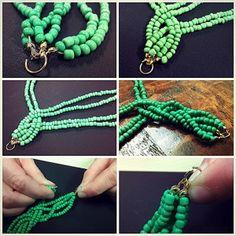 Seed Bead Necklace Tutorial