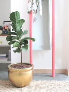 Add a pop of color to your room with this standing mirror DIY project from Francois et Moi. Image Source: Francois et Moi