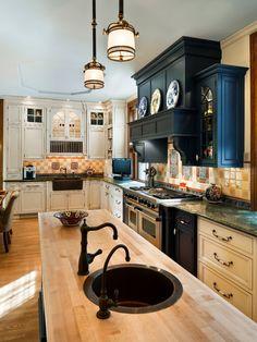 kitchenzz:  kitchen by Eberlein Design Consultants http://www.houzz.com/photos/3203271/Victorian-Heirloom-traditional-kitchen-philadelphia