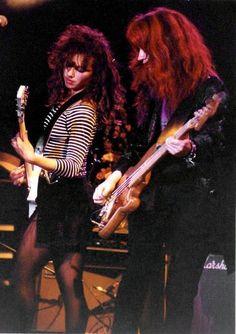 Susanna Hoffs and Michael Steele, The Bangles. Susanna Hoffs, Female Guitarist, Female Singers, 80s Music, Music Icon, Michael Steele, Pantyhosed Legs, Women Of Rock, Guitar Girl