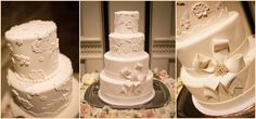 Elegant wedding cake in our #Boston ballroom.