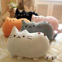 1 adet 40*30 cm peluş oyuncaklar dolması hayvan doll kawaii oyuncaklar pusheen oyuncak pusheen cat bisküvi uyku yastık çocuk dolması oyuncaklar(China (Mainland))