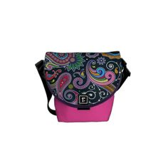 Funky Pink Vintage Retro Paisley Messenger Bag Crazy about those retro patterns. and wallpaper isn't it the best? Hipster Pattern, Retro Pattern, Pack Your Bags, Beautiful Bags, Bag Accessories, Hippie Accessories, Vintage Pink, Leather Bag, Purses And Bags
