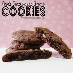 Double Chocolate & Almond Cookies | The Purple Pumpkin Blog